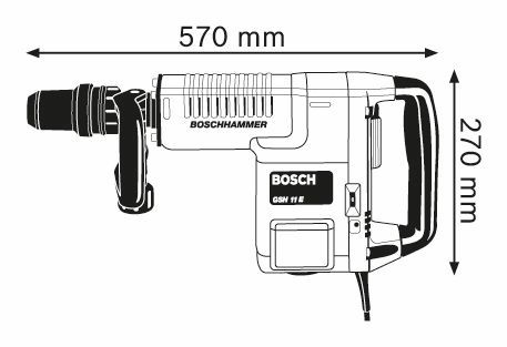 Medium Duty Electric Breaker Bosch GSH11 E
