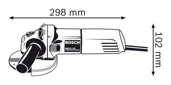 "4.5"" Electric Angle Grinder Bosch GWS6-115"